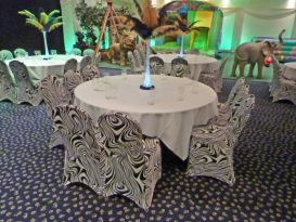 black white chair covers