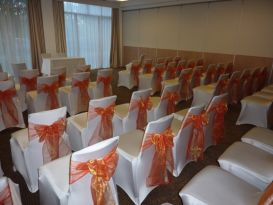 chair covers orange