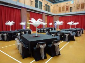 feathers black chaircovers worcester