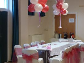 magenta clouds chair covers