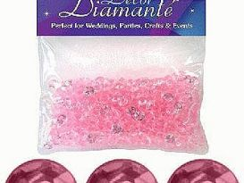 pearl pink diamante
