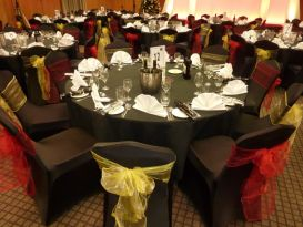 red and yellow-chair sashes